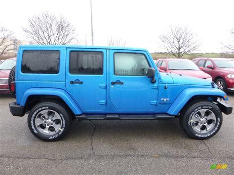 jeep sahara blue hydro blue pearl 2016 jeep wrangler unlimited sahara 4x4
