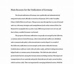 German Unification Essay  Page Essay German Unification Nationalism  German Unification Essay Plan Template Business Studies Essays also Essays On English Literature  A Thesis For An Essay Should