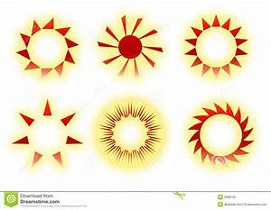 Retro sun icons stock illustration. Illustration of ...