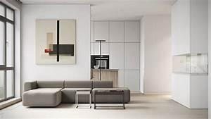 Minimalismo Blanco Y Materiales Naturales  Por M3 Architects