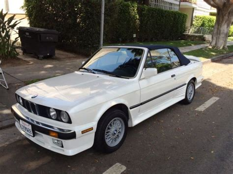 Bmw 325i Convertible For Sale by Bmw 3 Series Convertible 1988 White For Sale
