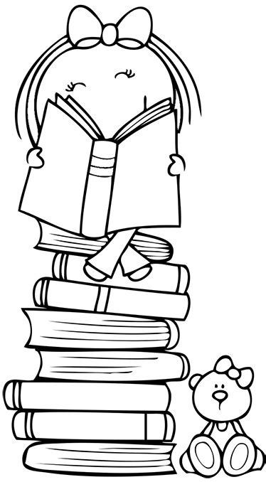 Sticker dessin enfant livres - TenStickers