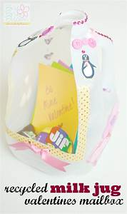 Recycled milk jug valentines mailbox - Brie Brie Blooms