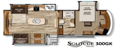 Dutchmen Voltage Toy Hauler Floor Plans by Solitude