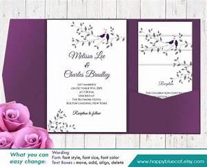 diy printable pocket wedding invitation template set With free editable wedding invitation templates for word