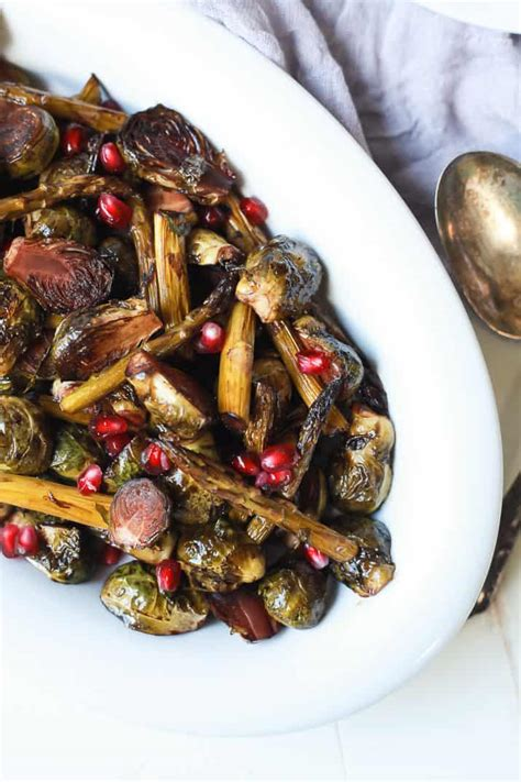 balsamic roasted brussels sprouts asparagus