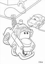 Mater Street Coloring Cars Pages Disney Truck Pixar Hellokids sketch template