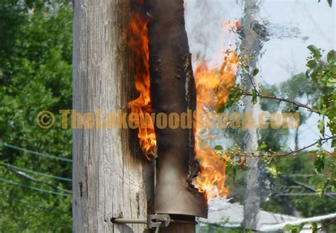 lakewood fans out of business the lakewood scoop video photos pole fire knocks out