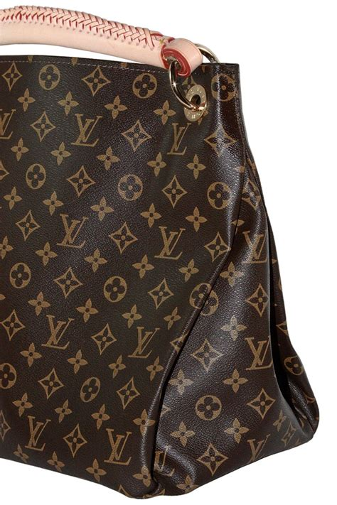 louis vuitton artsy hobo braided brown leather monogram shoulder bag  sale  stdibs