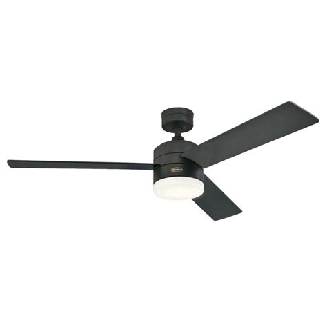 matte black ceiling fan with light westinghouse alta vista 52 in led matte black ceiling fan