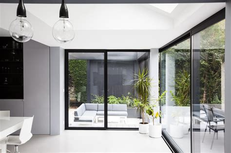 extension cuisine sur jardin extension d 39 une maison contemporain véranda et