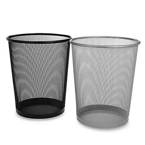 mesh metal wastebasket bed bath beyond