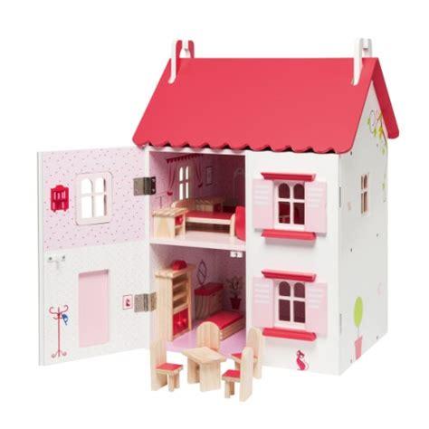 maison de poup 233 es meubl 233 e en bois oxybul pour enfant de 4