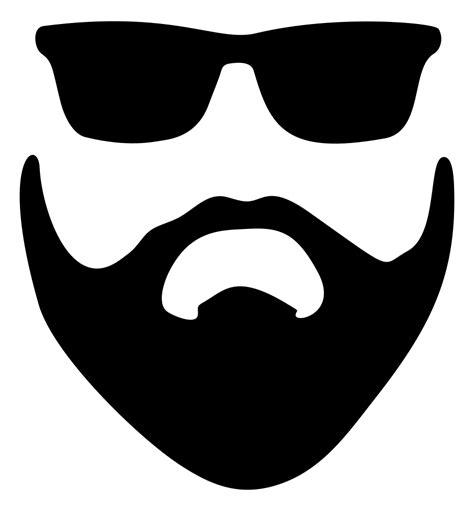 Beard Clip Onlinelabels Clip Beard And Sunglasses Silhouette