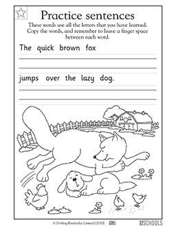 printable preschool worksheets word lists
