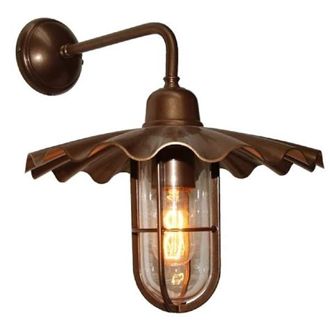 wall light with fluted dark bronze shade for indoor or