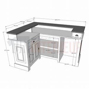 amazing cuisine hauteur d un bar comptoir de bar duangle cm x with hauteur standard comptoir