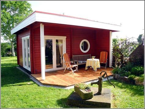 Gartenhaus Mit Terrasse Und Abstellraum