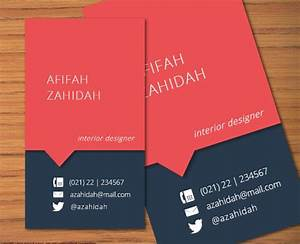 Diy microsoft word business name card template afifah by for Business name card template