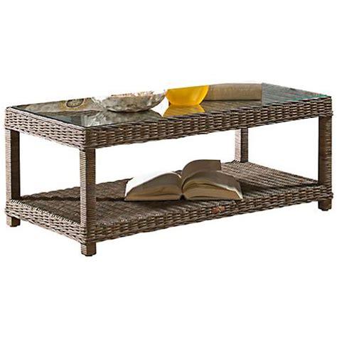 panama jack coffee table panama jack exuma kubu glass top gray wicker coffee table
