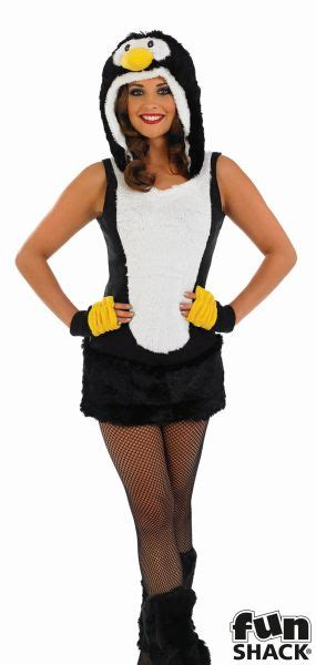 Adult Sexy Zoo Animal Cute Penguin Ladies Fancy Dress Christmas Costume Outfit | eBay
