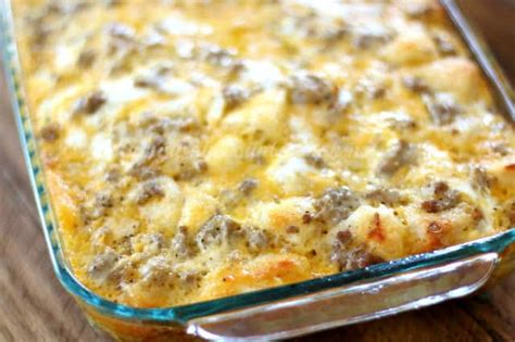Sausage Egg And Cheese Biscuit Casserole The Country Cook