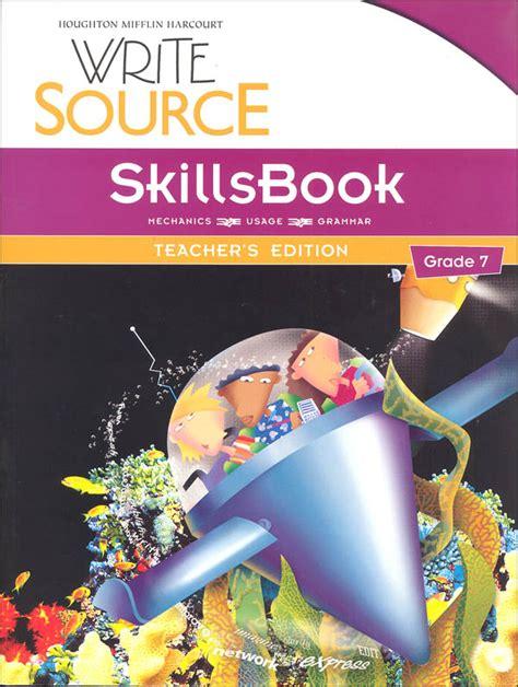 Write Source (2012 Edition) Grade 7 Skillsbook Teacher (023193) Details  Rainbow Resource