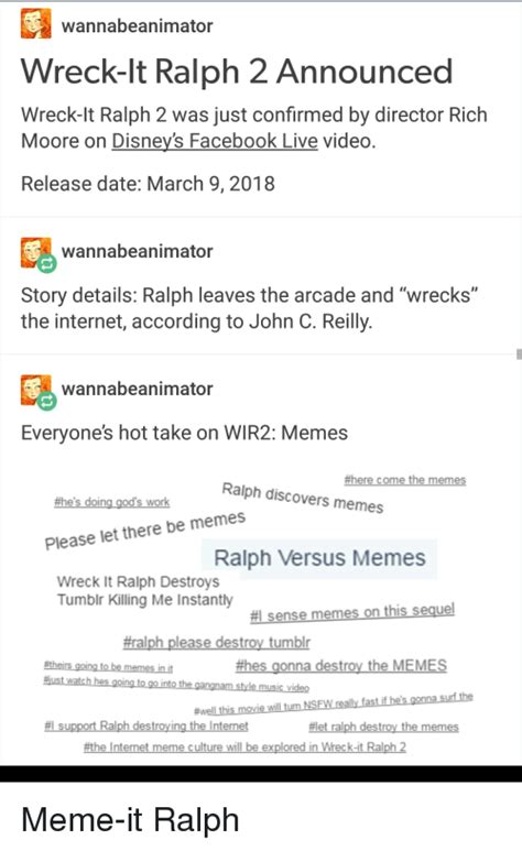 Ralph Breaks the Internet: Wreck It Ralph 2 / YMMV TV Tropes