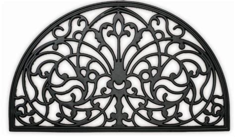 Wrought Iron Doormat by Wrought Cast Iron Efeect Rubber Doormat Traditional