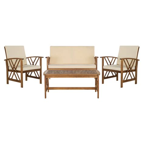 16+ Lovely Safavieh Fontana 4 Piece Outdoor Set