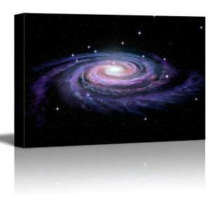 Canvas Prints Wall Art Spiral Galaxy Milky Way Concept