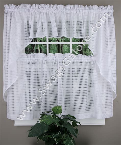 gridwork tiers swags and valance cream lorraine