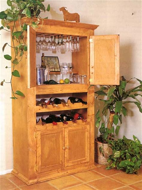 custom wine cabinet wood furniture plans