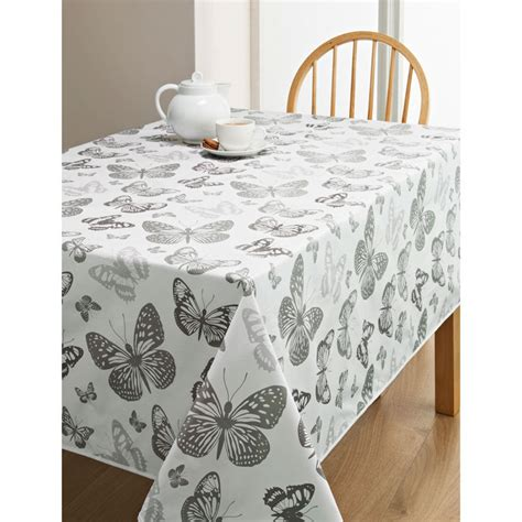wipe clean table cloth pvc wipe clean tablecloth butterfly kitchen b m