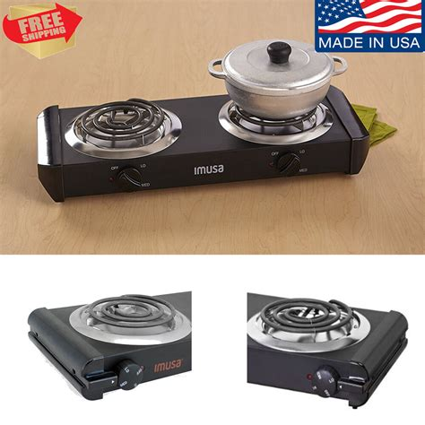 portable electric burner cooktop double stove hot plate countertop