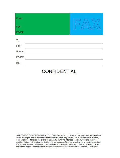 Cover Sheet Template 40 Printable Fax Cover Sheet Templates Template Lab