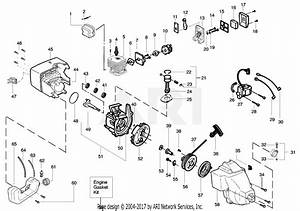 Poulan Pl25 Gas Trimmer Type 3 Parts Diagram For Engine