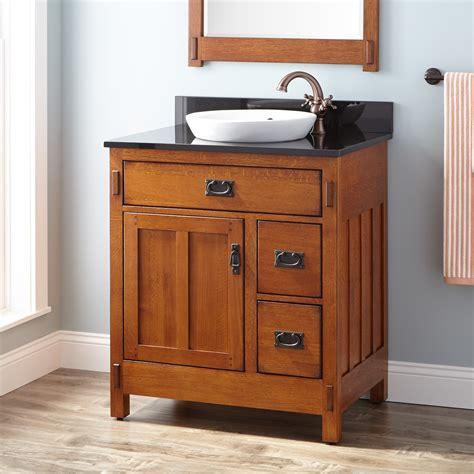 oak bathroom vanity cabinets 30 quot american craftsman vanity for semi recessed sink