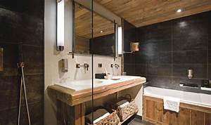 salle de bain rustique chic antique pinterest With salle de bain moderne bois