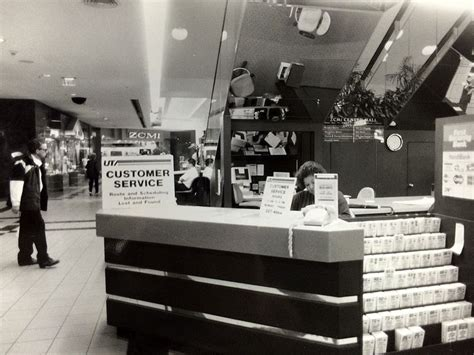 a uta customer service desk inside the zcmi mall the mall was torn in the mid 2000s and