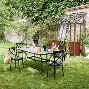 Gartenstuhl Metall Antik : gartenstuhl aus metall schwarz antik tradition maisons du monde ~ Buech-reservation.com Haus und Dekorationen