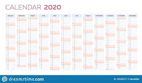 business planner calendar vector template year stock vector