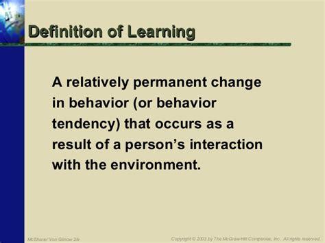 individual behavior  learning  business organizations
