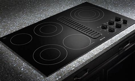 Electric stove top, top electric stove with downdraft