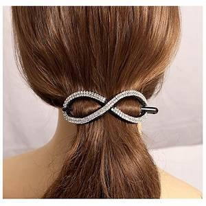 2016 New Hair Stick Crystals Hair Jewelry Ponytail Clips