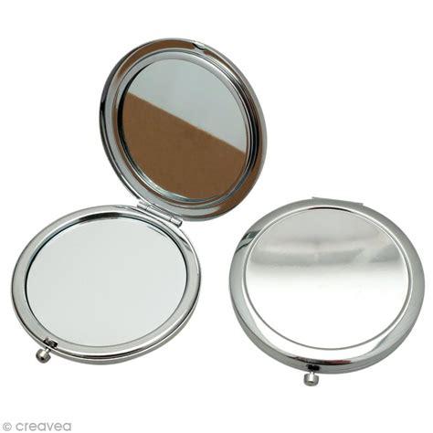 emporte rond cuisine miroir de poche en métal 7 7 cm à décorer miroir à