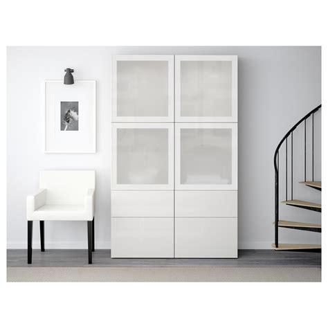 Ikea Besta Cupboard by Ikea Best 197 Storage Combination W Glass Doors Walnut
