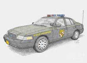 State Police Car Drawing