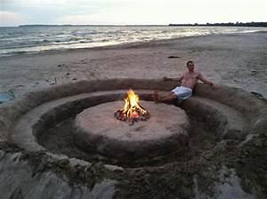 Beach Fire pit! #camping #bonfire #familytime #sand castle ...