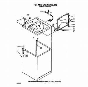 Whirlpool Model La5400xtw1 Washers Genuine Parts